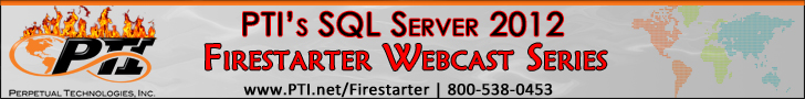 PTI SQL Server 2012 Webcast Series Banner