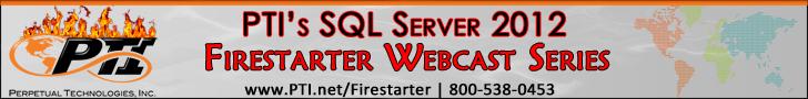 PTI SQL Server 2012 Webcast Series Banner